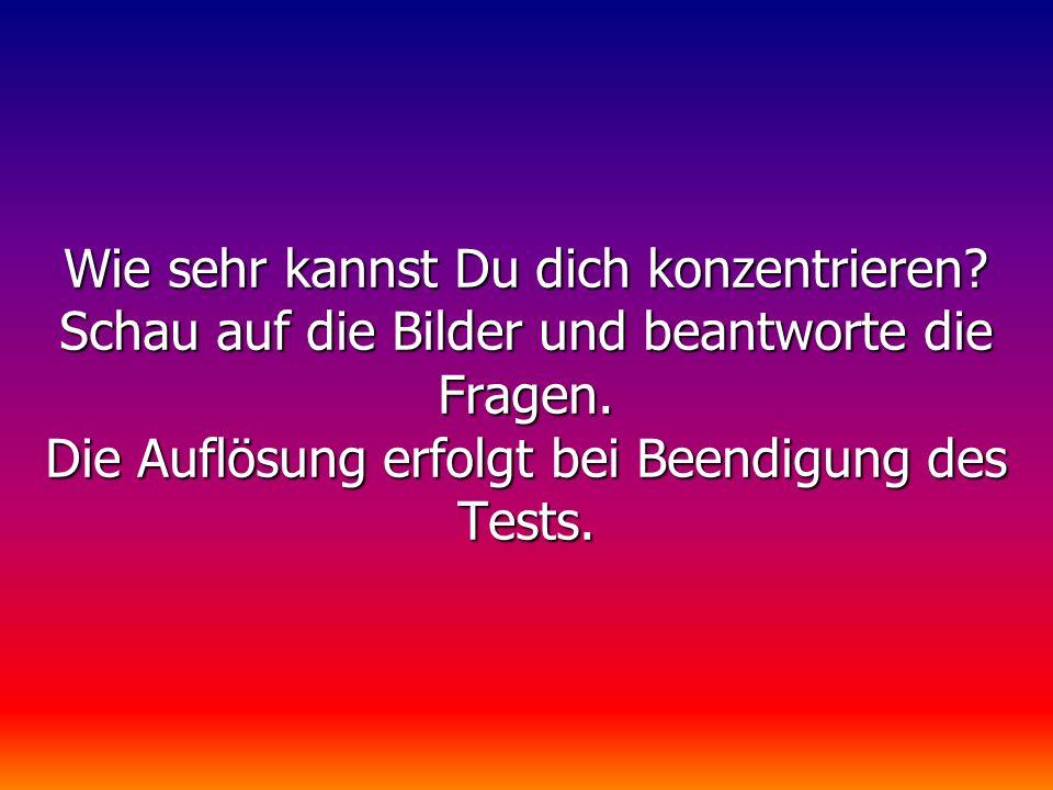 Konzentrations-TestKonzentrations-Test