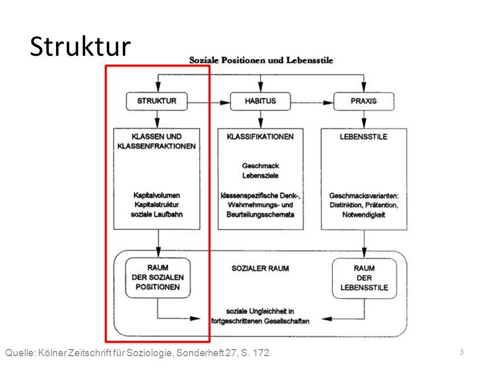 Struktur Quelle: Kölner Zeitschrift für Soziologie, Sonderheft 27, S. 172 3