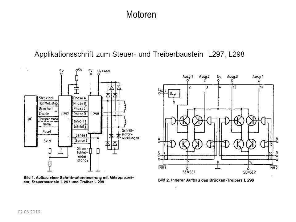 02.03.2016 Motoren Applikationsschrift zum Steuer- und Treiberbaustein L297, L298