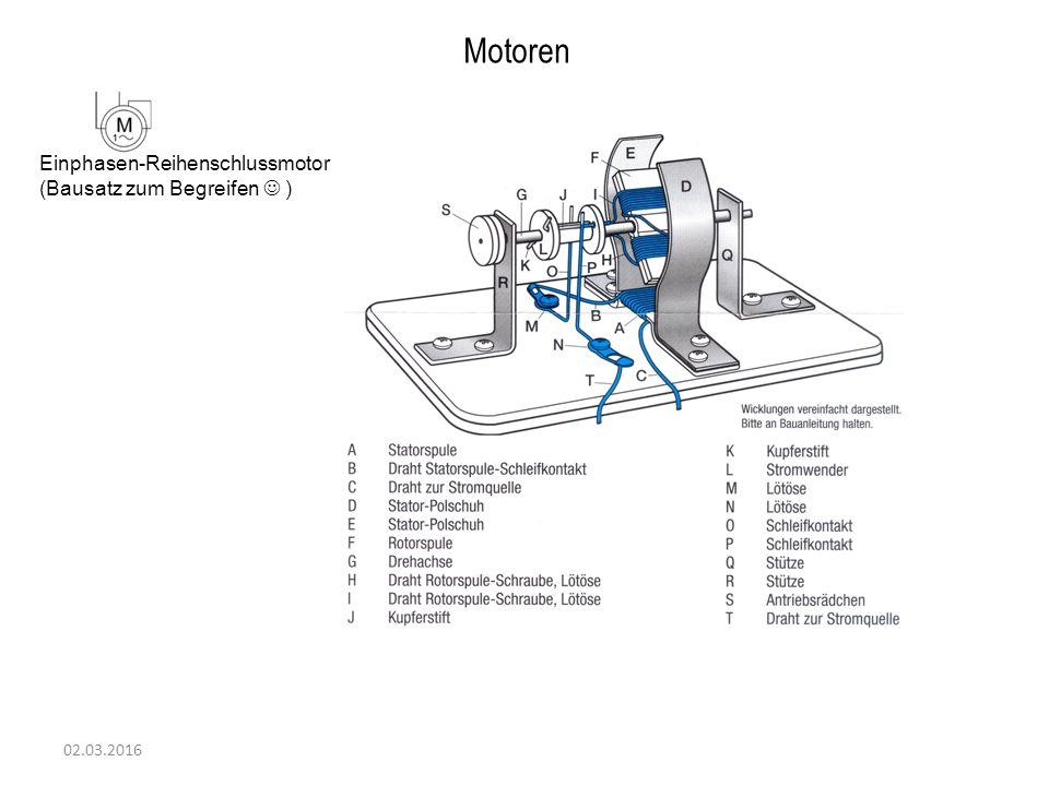 02.03.2016 Motoren Einphasen-Reihenschlussmotor (Bausatz zum Begreifen )