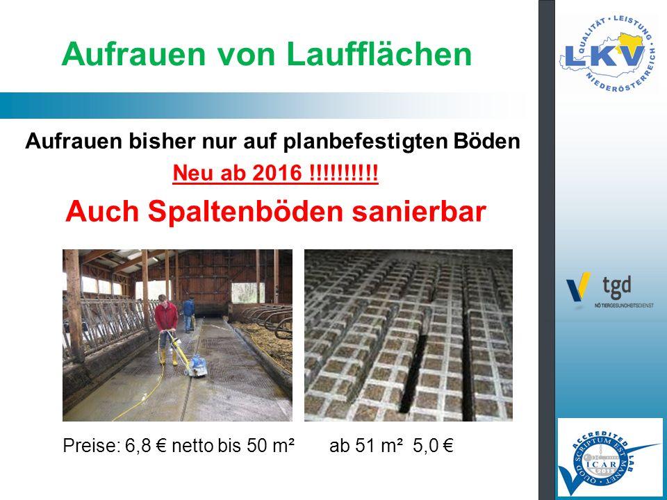 Aufrauen von Laufflächen Aufrauen bisher nur auf planbefestigten Böden Neu ab 2016 !!!!!!!!!.