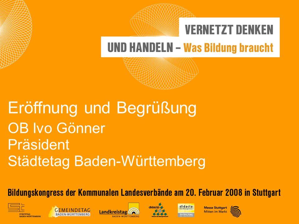 OB Ivo Gönner Präsident Städtetag Baden-Württemberg Eröffnung und Begrüßung
