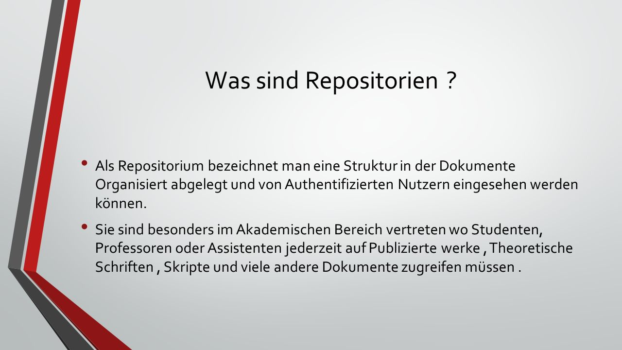 Was sind Repositorien .