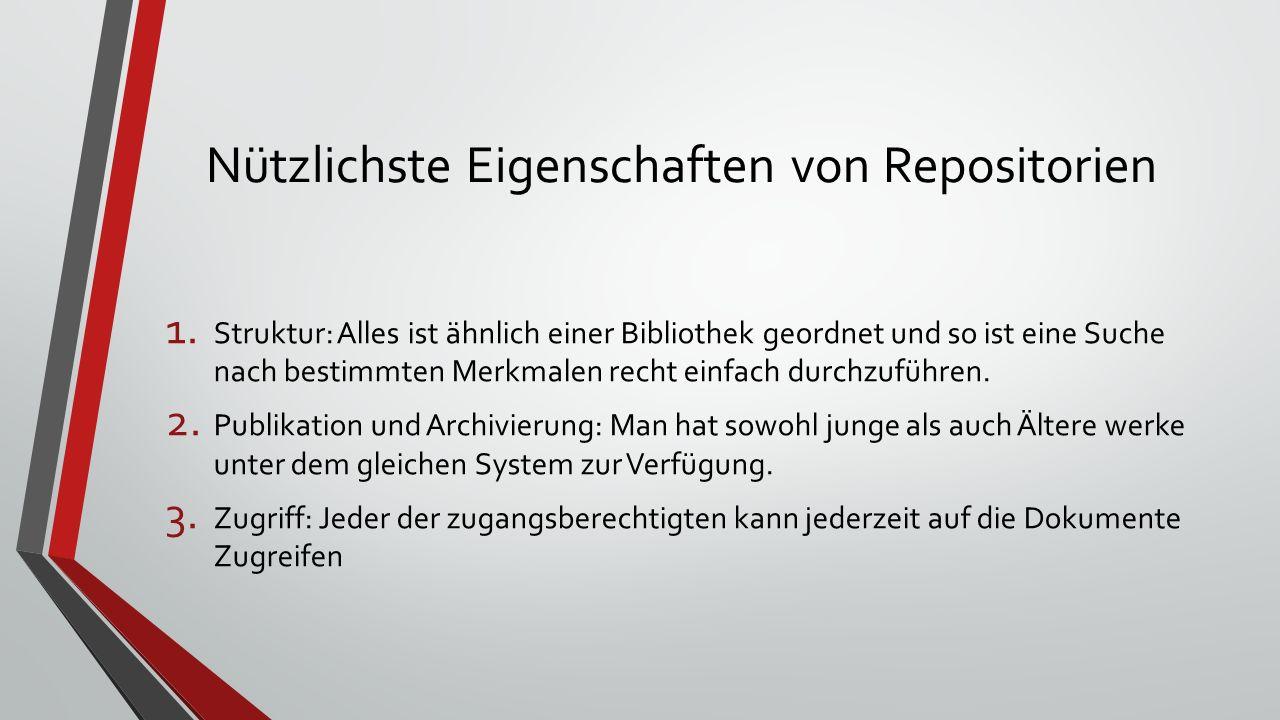 Nützlichste Eigenschaften von Repositorien 1.