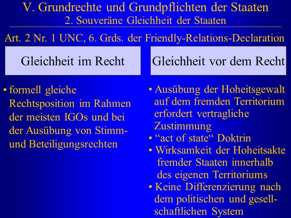 V.Grundrechte und Grundpflichten der Staaten 2.