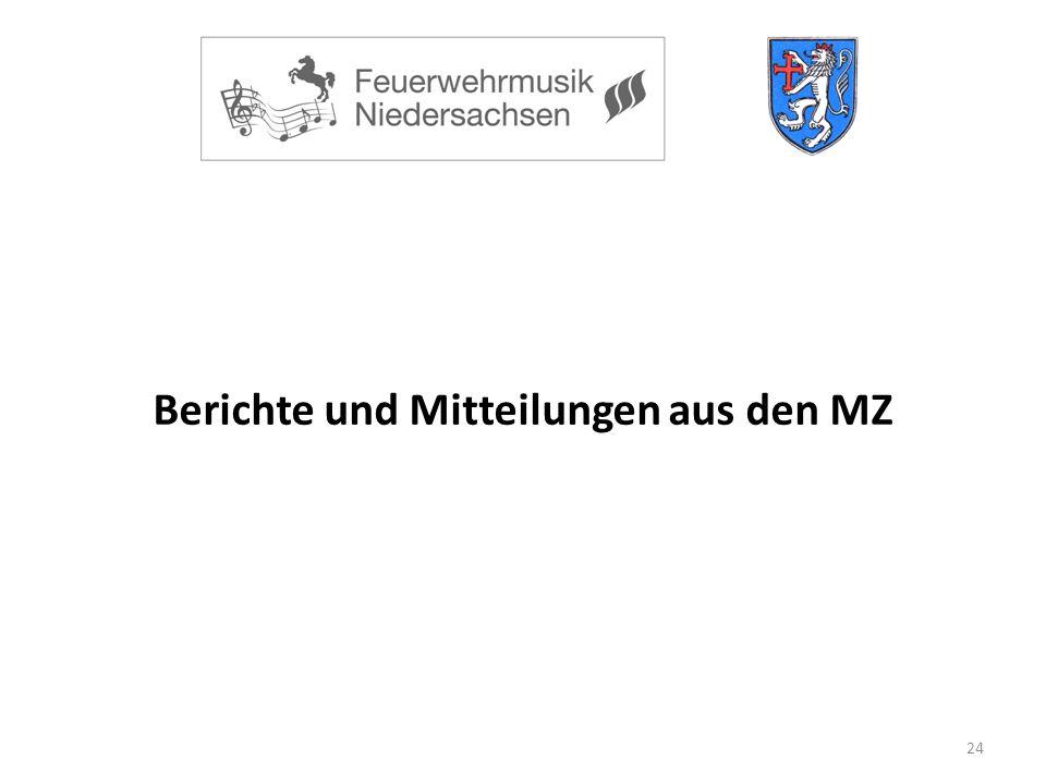 24 Berichte und Mitteilungen aus den MZ