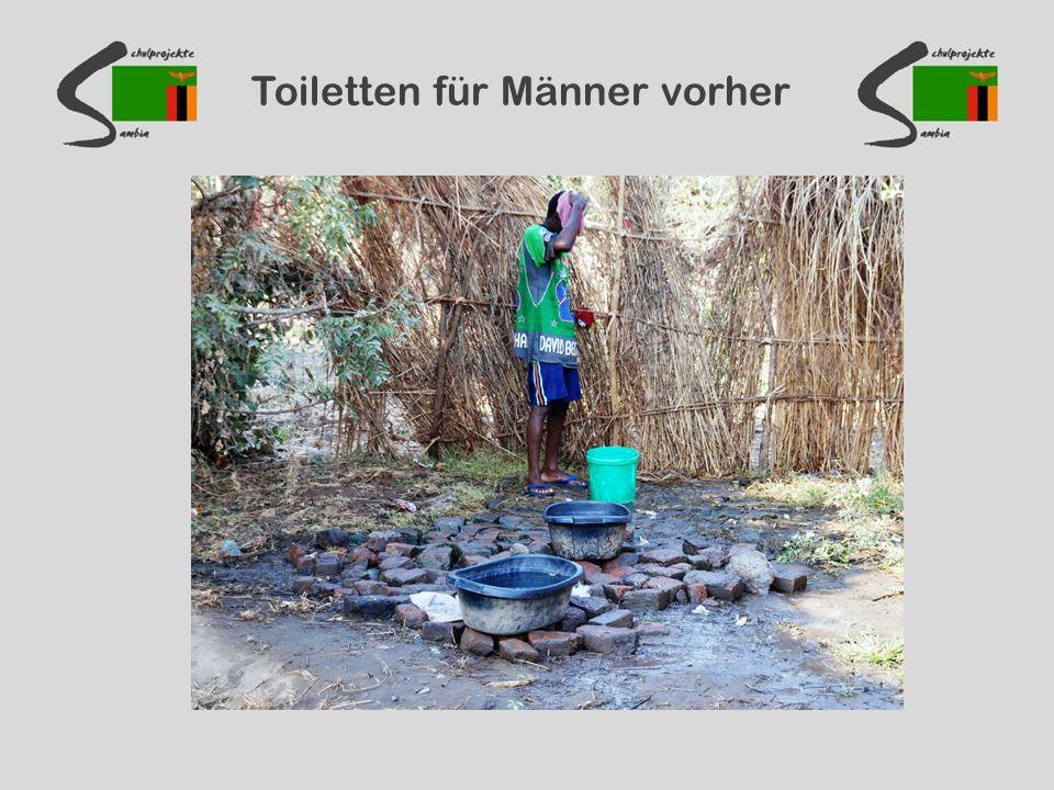 Toiletten für Männer vorher