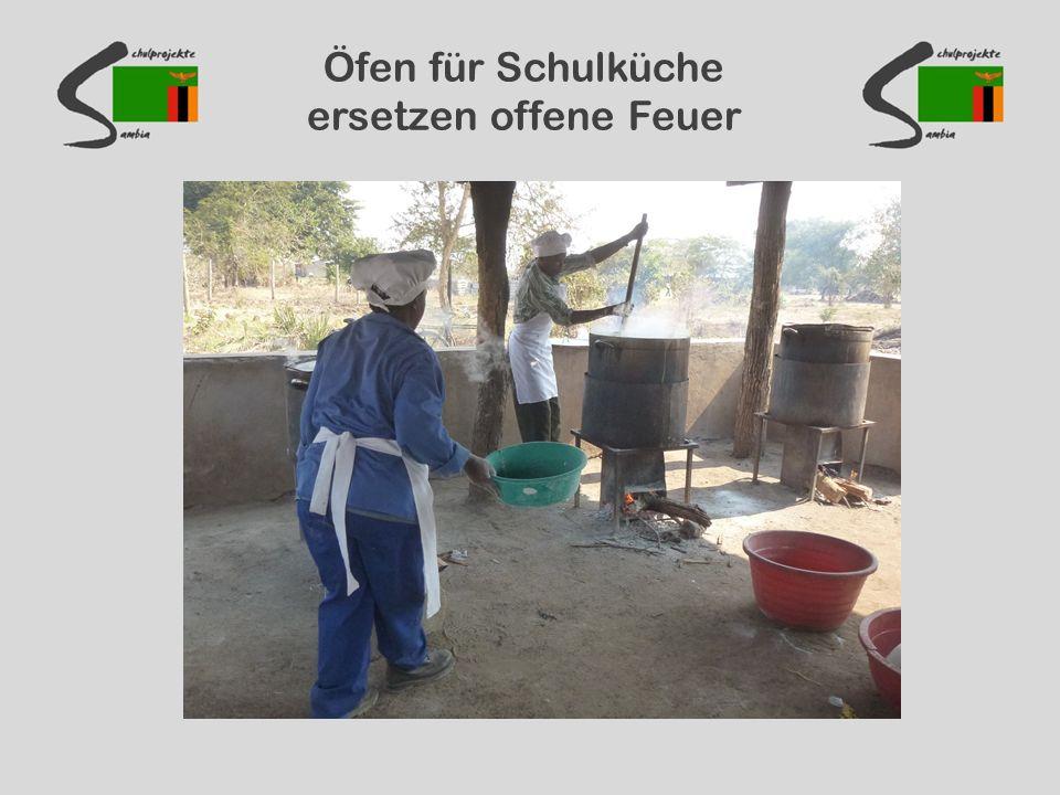 Öfen für Schulküche ersetzen offene Feuer