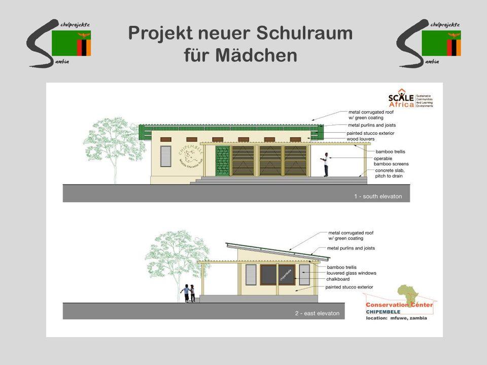 Projekt neuer Schulraum für Mädchen