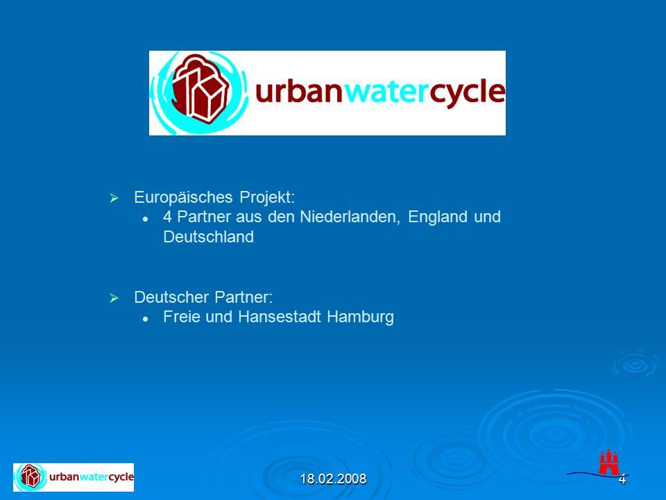 18.02.20085 Ziel des Projektes: Optimierung des städtischen Wasserkreislaufs