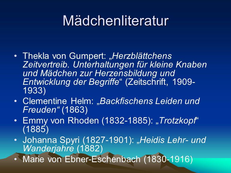 """Mädchenliteratur Thekla von Gumpert: """"Herzblättchens Zeitvertreib."""
