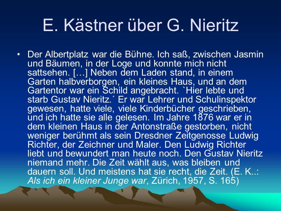 E. Kästner über G. Nieritz Der Albertplatz war die Bühne.