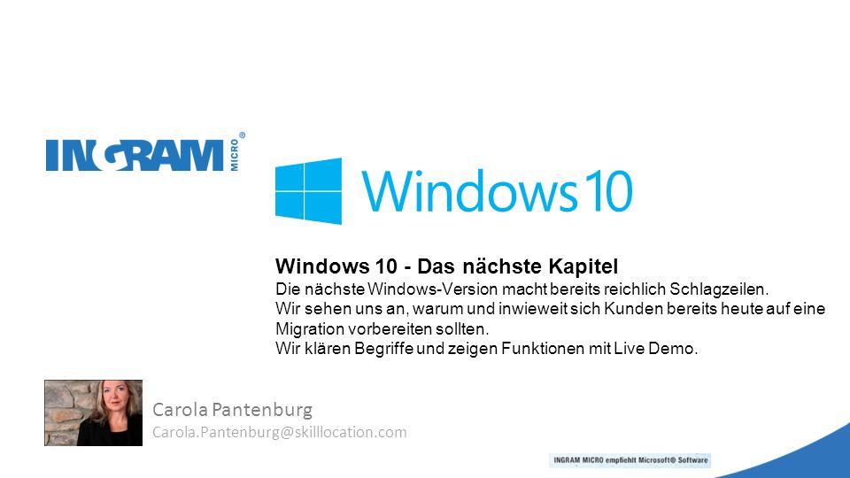 Windows 10 - Das nächste Kapitel Die nächste Windows-Version macht bereits reichlich Schlagzeilen.