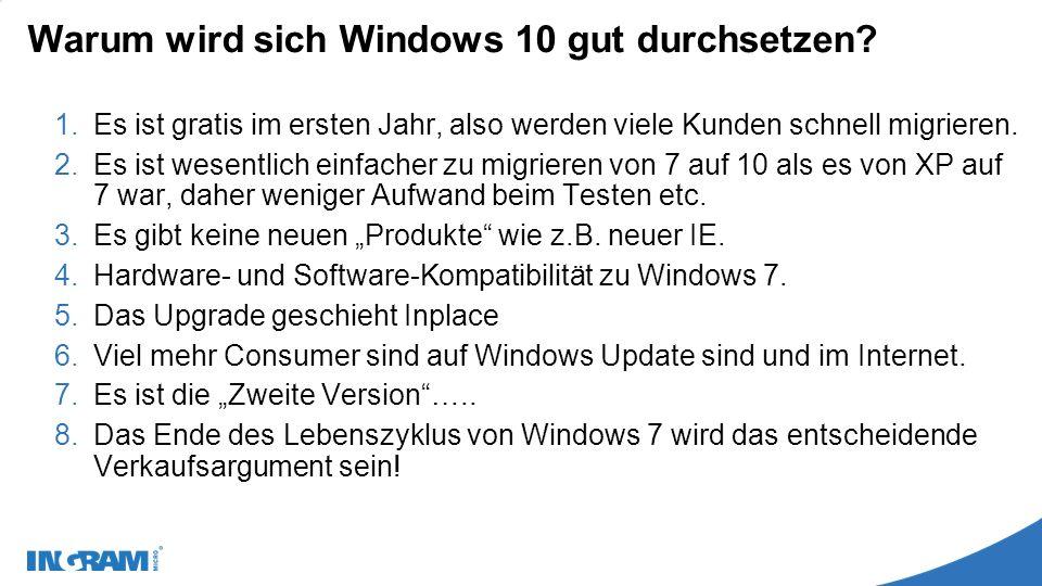 Warum wird sich Windows 10 gut durchsetzen.