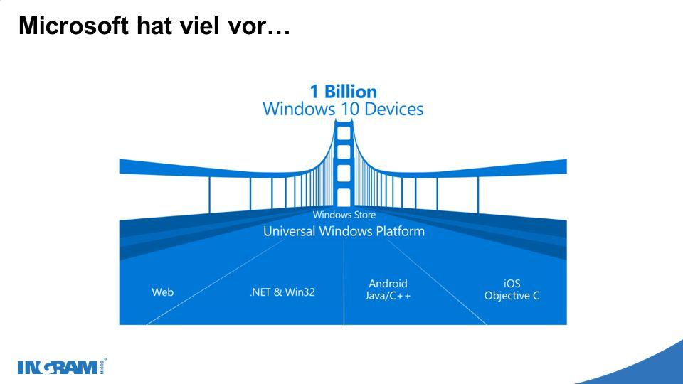 Microsoft hat viel vor…