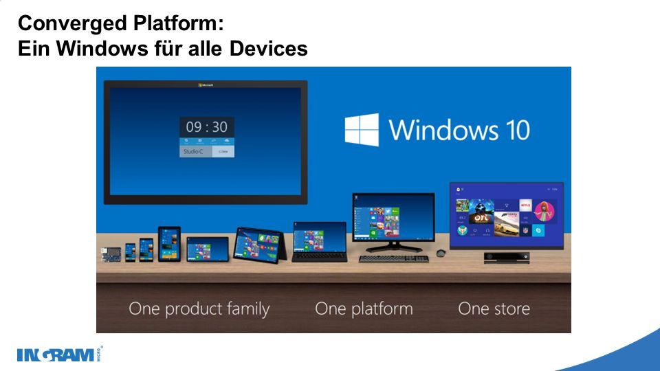 Migration und Deployment Problemloser Umstieg für Nutzer von Windows 7 (Startmenü, Desktop-Anwendungen) Hardwareanforderungen bleiben unverändert Kompatibilität der Desktopanwendungen und Modern Apps Wipe-and-Reload Daten und Einstellungen sichern (z.B.