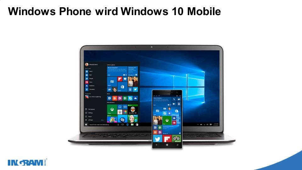 Windows Phone wird Windows 10 Mobile