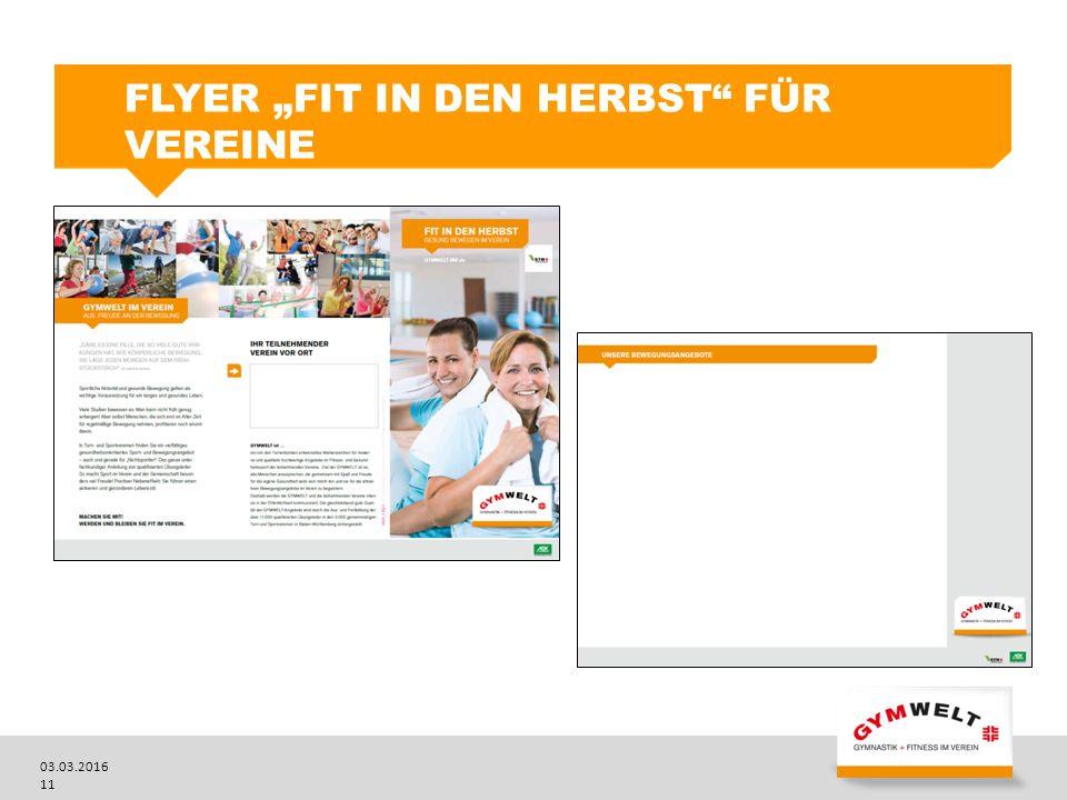 """03.03.2016 11 FLYER """"FIT IN DEN HERBST FÜR VEREINE"""