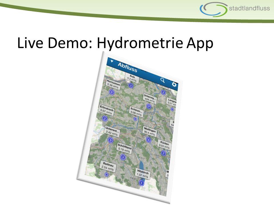 Live Demo: Hydrometrie App