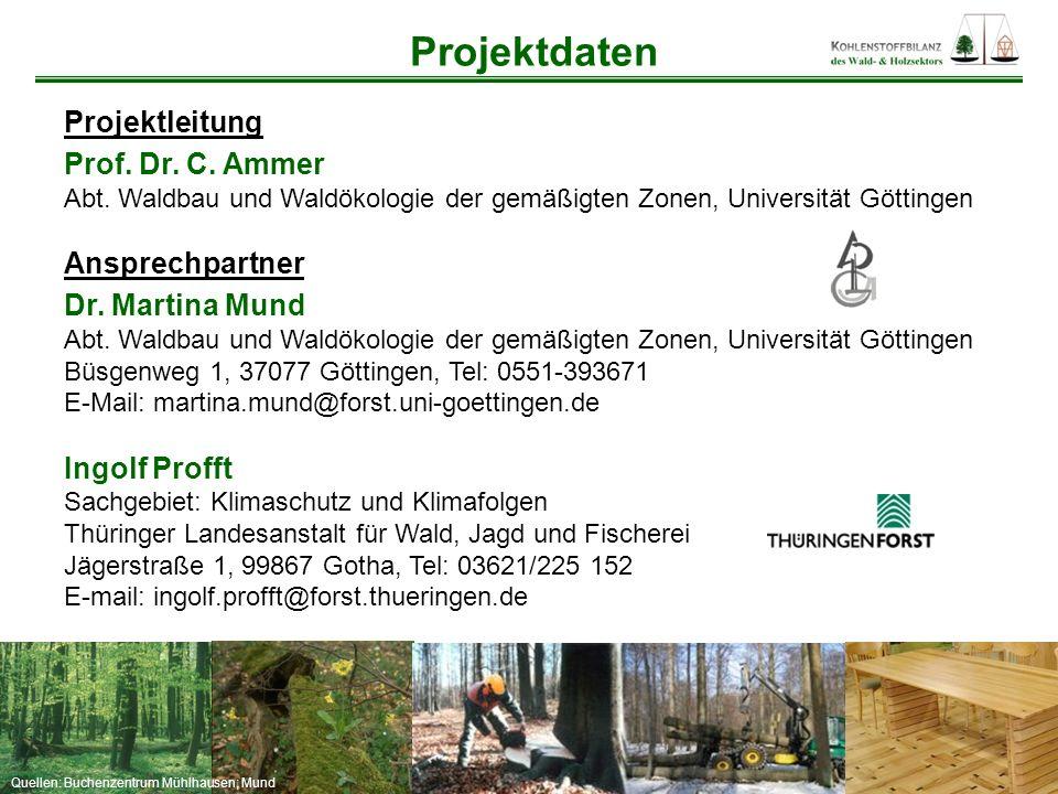 Quellen: Buchenzentrum Mühlhausen; Mund Projektleitung Prof. Dr. C. Ammer Abt. Waldbau und Waldökologie der gemäßigten Zonen, Universität Göttingen An