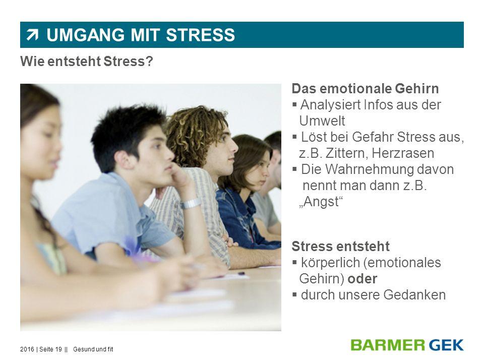  UMGANG MIT STRESS Wie entsteht Stress.