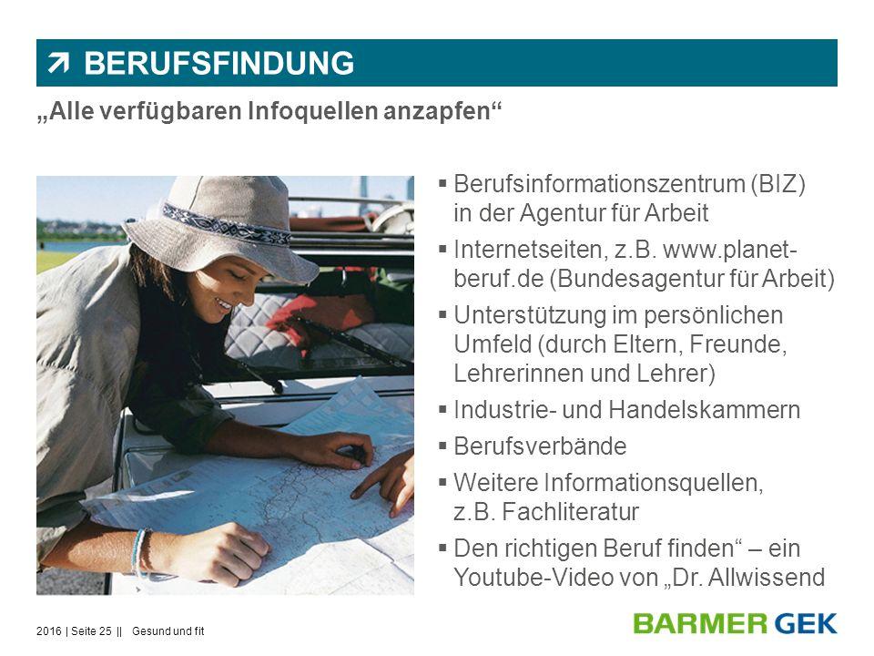 """ BERUFSFINDUNG """"Alle verfügbaren Infoquellen anzapfen  Berufsinformationszentrum (BIZ) in der Agentur für Arbeit  Internetseiten, z.B."""