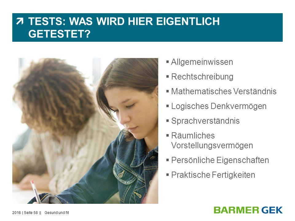  TESTS: WAS WIRD HIER EIGENTLICH GETESTET.