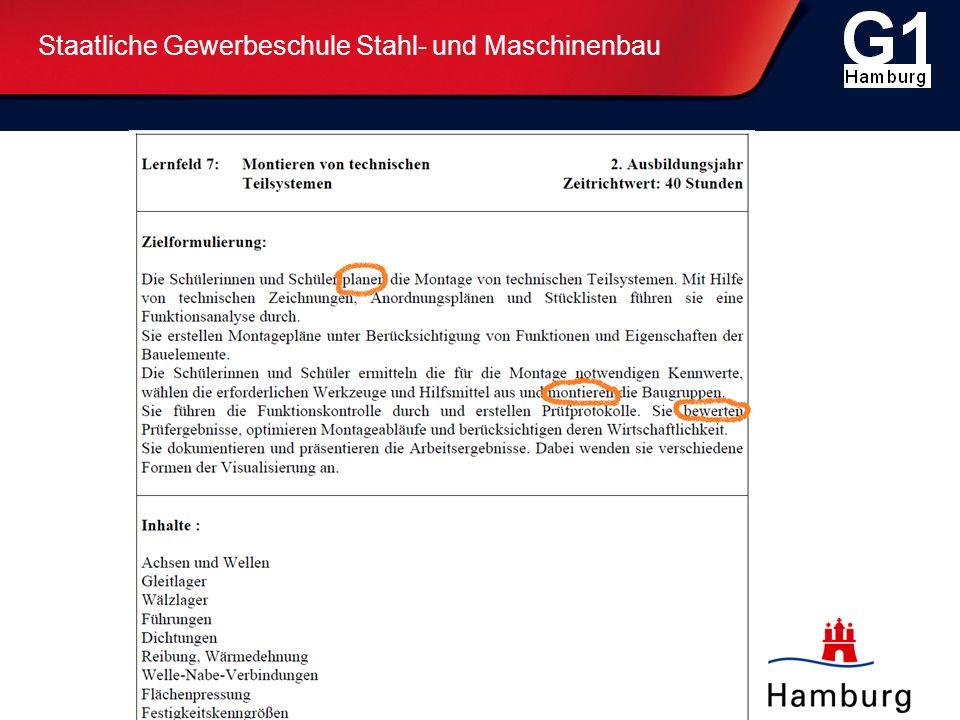 Staatliche Gewerbeschule Stahl- und Maschinenbau Organisation