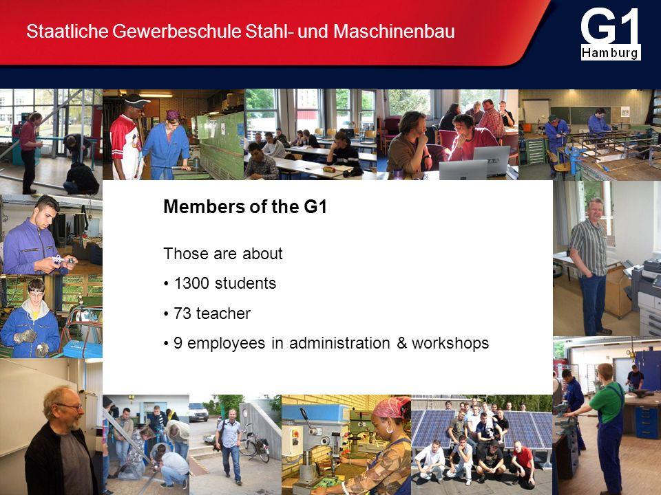 Staatliche Gewerbeschule Stahl- und Maschinenbau Vocational training first year - Practical training to get vocational orientation Dual system vocational training Further education G 1