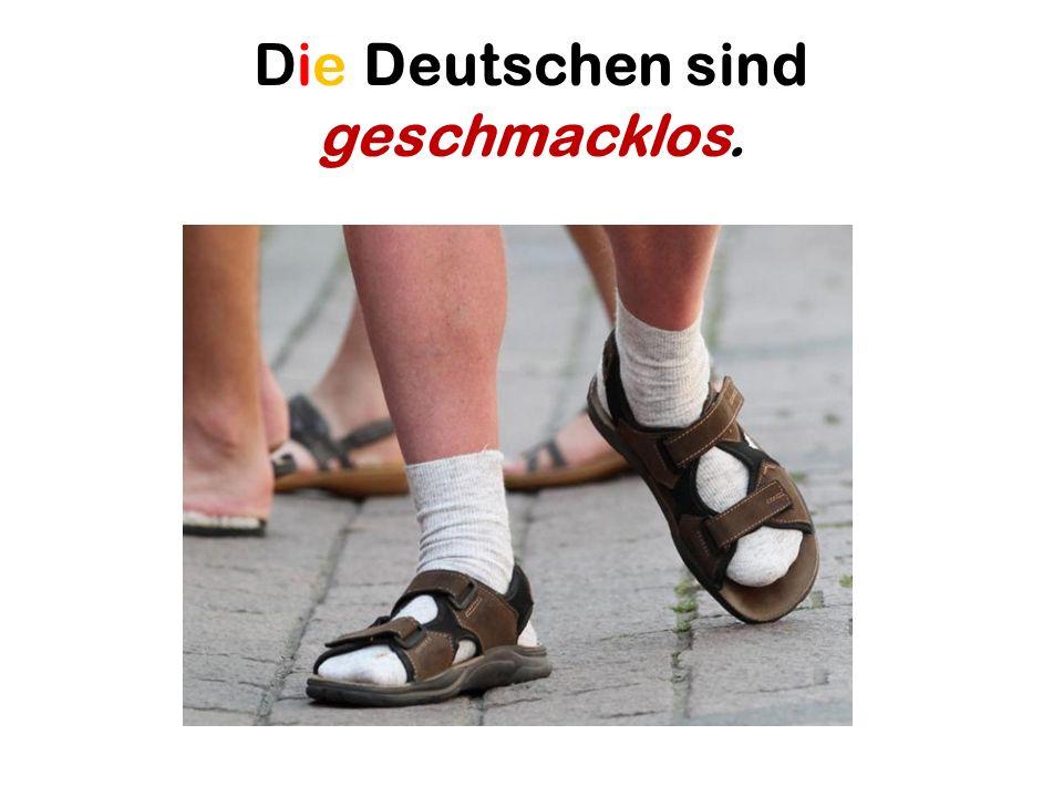 Die Deutschen sind sparsam.