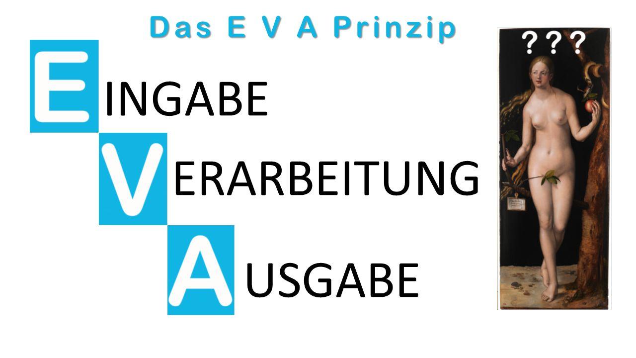 Das E V A Prinzip INGABE ERARBEITUNG USGABE