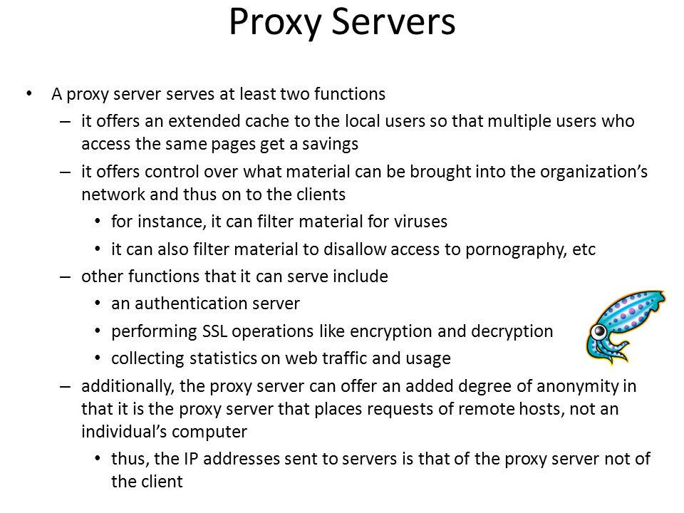 What is a proxy.