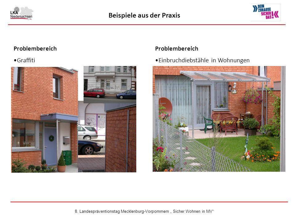 Problembereich Graffiti Beispiele aus der Praxis Problembereich Einbruchdiebstähle in Wohnungen 8.