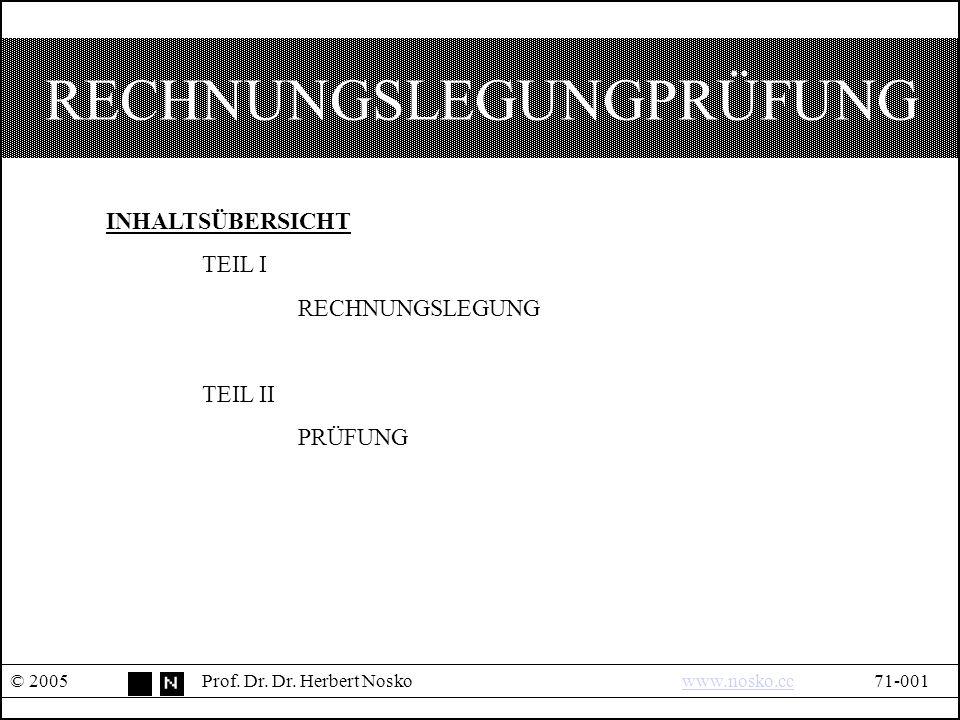 I.RECHNUNGSLEGUNG © 2005Prof. Dr. Dr.