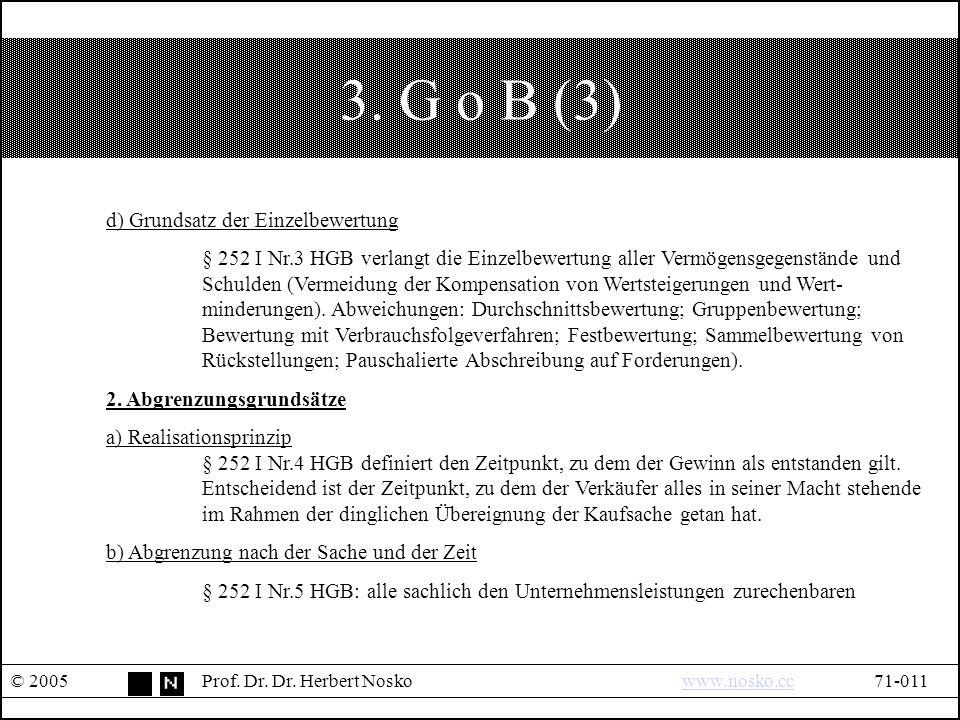 3. G o B (3) © 2005Prof. Dr. Dr.