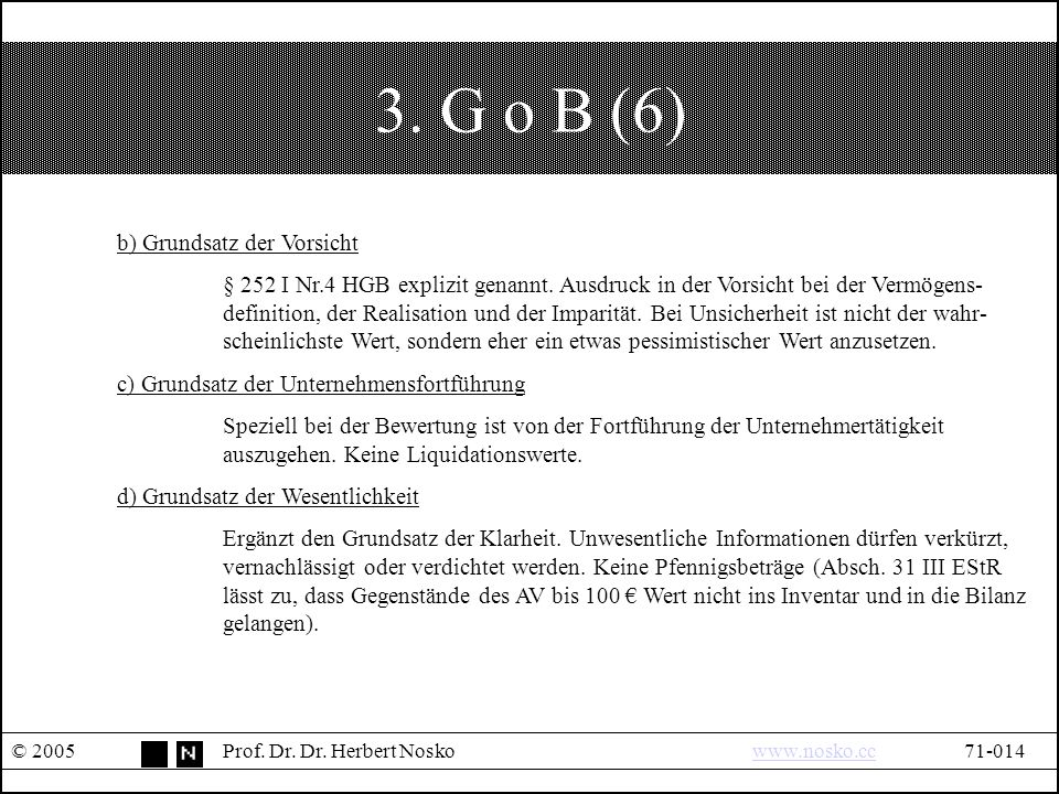 3. G o B (6) © 2005Prof. Dr. Dr.