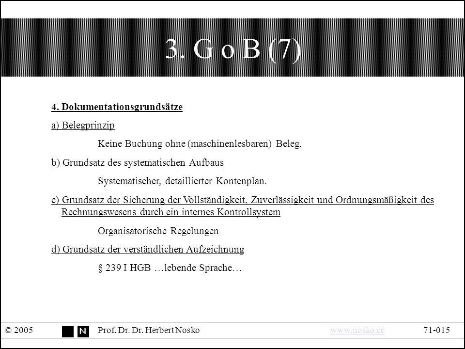 3. G o B (7) © 2005Prof. Dr. Dr. Herbert Noskowww.nosko.cc71-015www.nosko.cc 4.