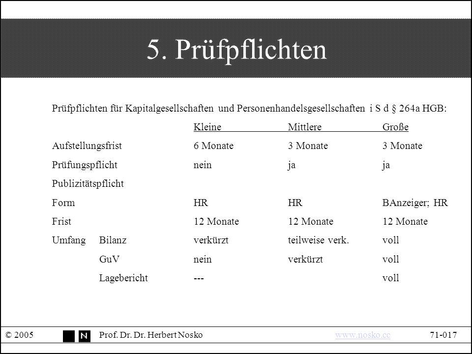 5. Prüfpflichten © 2005Prof. Dr. Dr.