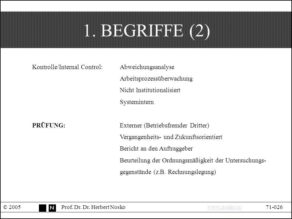 1. BEGRIFFE (2) © 2005Prof. Dr. Dr.