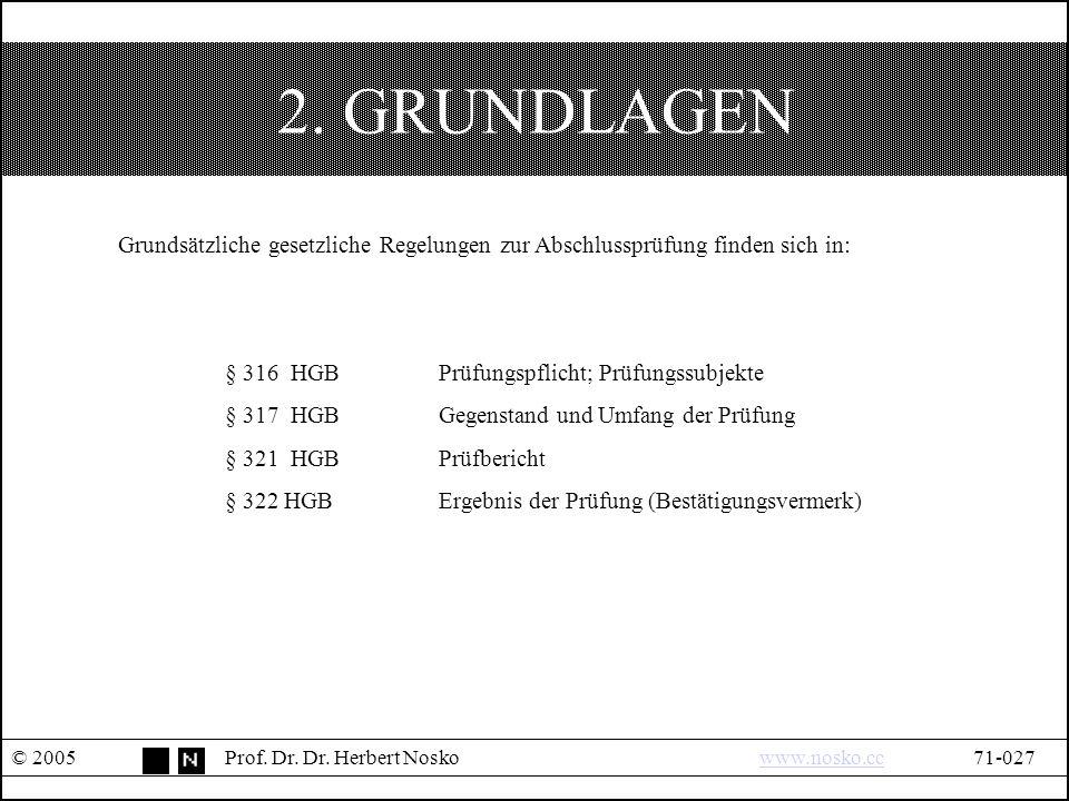 2. GRUNDLAGEN © 2005Prof. Dr. Dr.