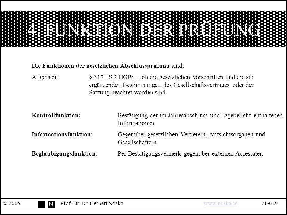 4. FUNKTION DER PRÜFUNG © 2005Prof. Dr. Dr.