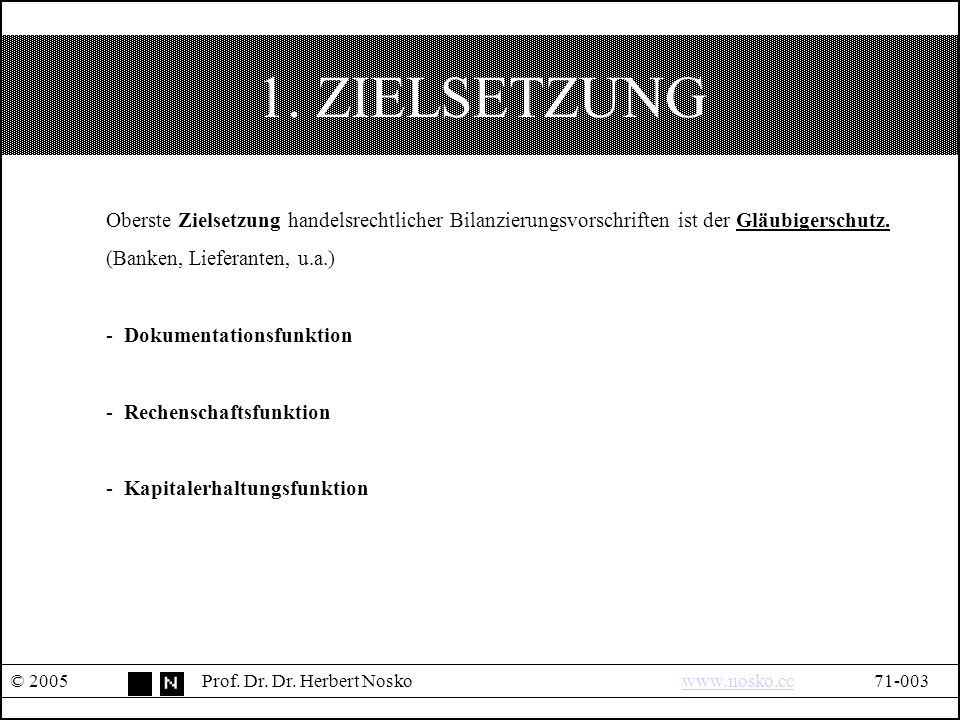 II. PRÜFUNG © 2005Prof. Dr. Dr. Herbert Noskowww.nosko.cc71-024www.nosko.cc TEIL II PRÜFUNG