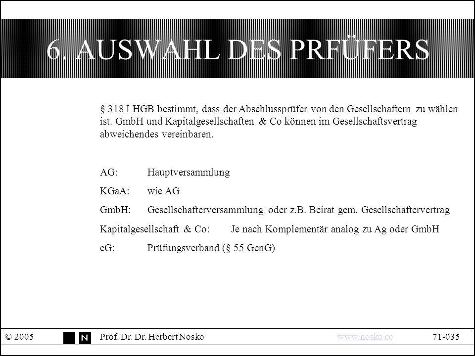 6. AUSWAHL DES PRFÜFERS © 2005Prof. Dr. Dr.