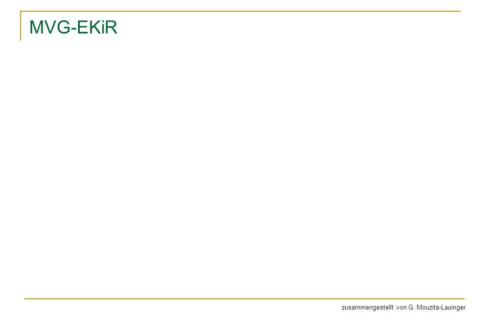 MVG-EKiR zusammengestellt von G. Mouzita-Lauinger