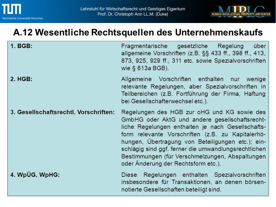 1. BGB:Fragmentarische gesetzliche Regelung über allgemeine Vorschriften (z.B.