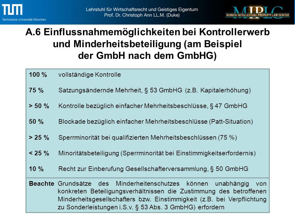 C.6 (Forts.) Wirtschaftlicher Stichtag / Stichtagsbilanz / Sonstige Abgrenzung Beendigung von Cashpooling Vereinbarungen, Unternehmens- verträgen (insb.