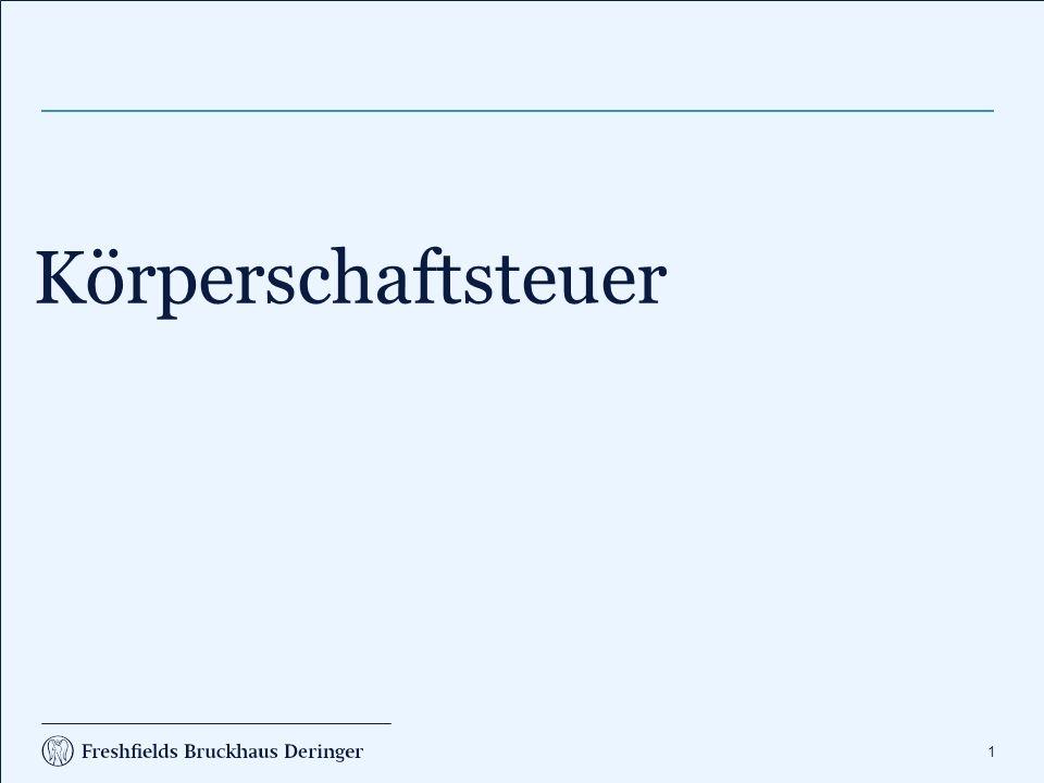 102 Körperschaftsteuer Organschaft Holding AG T1 GmbHT2 GmbHT4 GmbHT3 GmbH E3 GmbHE4 GmbHE5 GmbHE1 GmbHE2 GmbH UE1 GmbHUE2 GmbH 2 Mio.