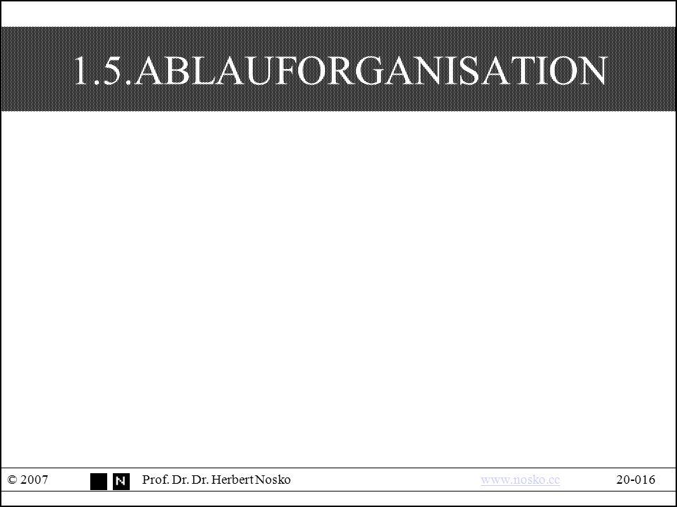 1.5.ABLAUFORGANISATION © 2007Prof. Dr. Dr. Herbert Noskowww.nosko.cc20-016www.nosko.cc