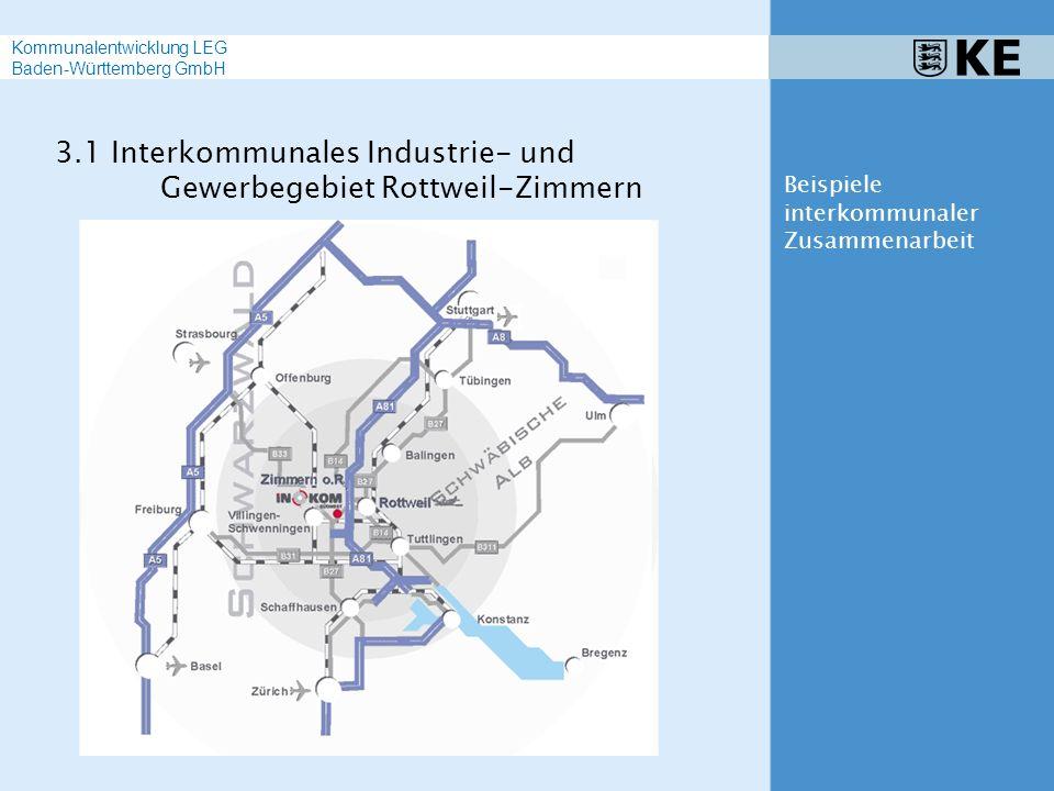 3.1 Interkommunales Industrie- und Gewerbegebiet Rottweil-Zimmern Beispiele interkommunaler Zusammenarbeit Kommunalentwicklung LEG Baden-Württemberg G