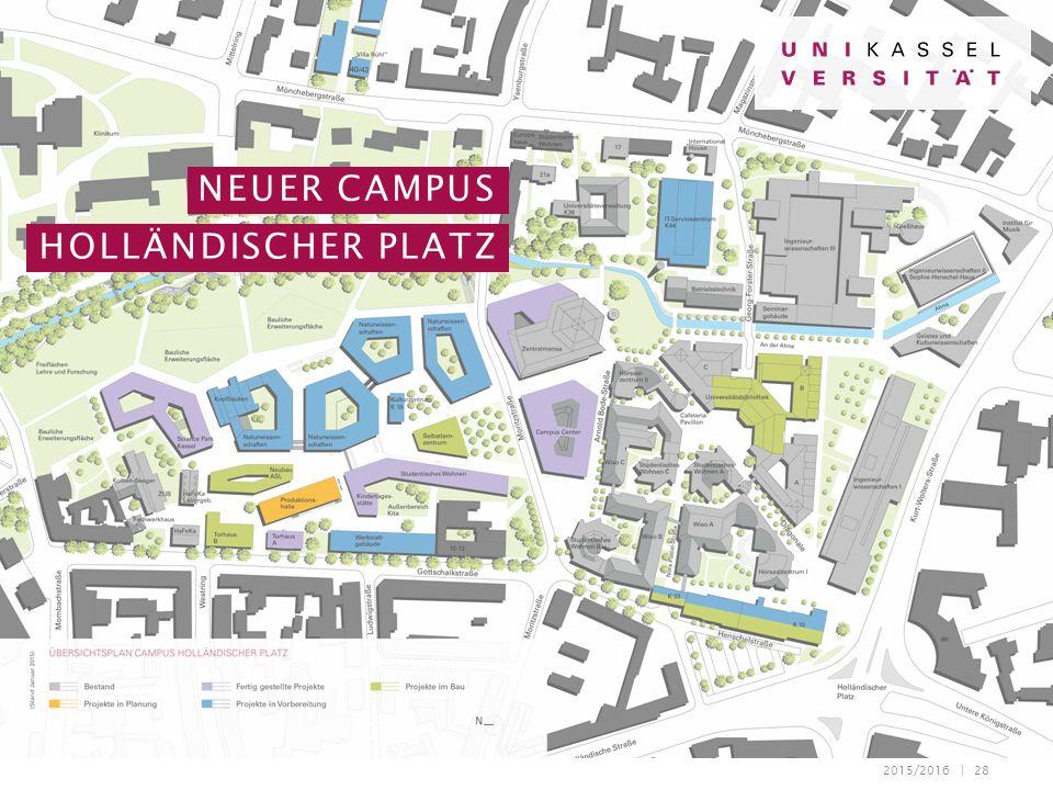 2015/2016 | 28 NEUER CAMPUS HOLLÄNDISCHER PLATZ